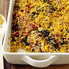 Weight Watchers Vegetable Barley Casserole: This Tex-Mex casserole is jam-packed with tasty, fiber-rich ingredients. We used Swiss Chard but spinach, kale or turnip greens are all great options. Ww Recipes, Vegetable Recipes, Great Recipes, Vegetarian Recipes, Cooking Recipes, Favorite Recipes, Healthy Recipes, Barley Recipes, Interesting Recipes