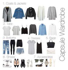 Capsule Wardrobe by stellamii on Polyvore featuring Splendid, Zara, Uniqlo, Monki, MANGO, 3.1 Phillip Lim, Rodarte, Ted Baker, Acne Studios and adidas