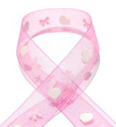 Accufashion 5/8'10 Yds Sweety Bowknot Printed Organza Ribbon -- You can find more details by visiting the image link.