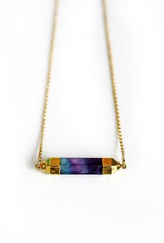 FLUORITE bar necklace - pre-order 10/29