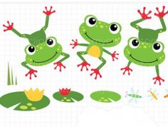Clipart - Frog On A Log | Meylah