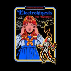 Drawing For Beginners Electrokinesis for Beginners by Steven Rhodes - I sometimes accidentally zap my friends with static electricity so I pretty much have these abilities. Arte Horror, Horror Art, Bizarre Art, Retro Illustration, Pics Art, Rhodes, Aesthetic Art, Dark Art, Activities For Kids