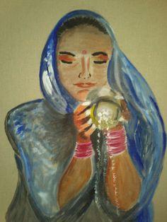 femme au bord du Ganges