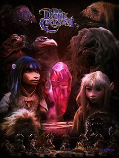 An alternate poster for the Jim Henson cult movie. Used to watch this one a lot as a kid. Dark Crystal Movie, The Dark Crystal, Jim Henson, Fantasy Movies, Fantasy Art, Fraggle Rock, Movie Poster Art, Cult Movies, Animation Film
