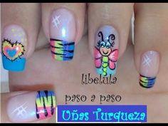 Decoracion de uñas Ranita - Como Pintar ranitas - Frog Nail art - NLC - YouTube Bright Nails, Manicure And Pedicure, You Nailed It, Nail Designs, Lily, Nail Art, Beauty, Paint Flowers, Youtube