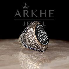 """Rabbim İlmimi Artır"" Yazılı Gümüş Erkek Yüzük - Arkhe Jewel Class Ring, Rings, Things To Sell, Jewelry, Jewlery, Jewerly, Ring, Schmuck, Jewelry Rings"