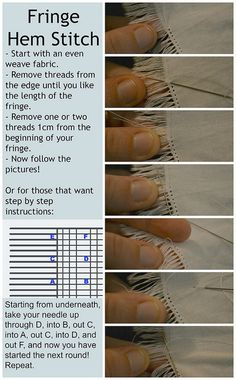 Fringe Hem Stitch | Flickr - Photo Sharing!