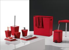 1000 images about bathroom accessories on pinterest new for Red bathroom accessories