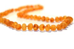 Unpolished Honey - Baroque Style - Adult Amber Necklace - 45cm-