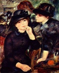 Café com Arte: Uma das muitas cenas nos cafés de Paris pintadas por Renoir. Maravilhoso!