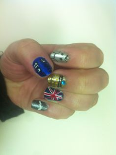 My nails for the BIG Dr. Who show on Saturday. My Nails, Class Ring, Nail Art, My Favorite Things, Big, Makeup, Handmade, Closet, Beauty