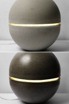 The Gayalux lamp is both sculptural and light floor lamp.This ball mineral isanchored on the ground, it seems to levitate with his streak of light passing through it. Concrete leaves architecture for the object, the block is curved like a skin. #Concept #Floorlamp #Hugelighting #Lamp #Lighting #Lightingdesign #Modernlighting