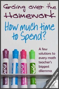 Going Over Math Homework | Math Giraffe - The Math Classroom: Blog | Bloglovin'
