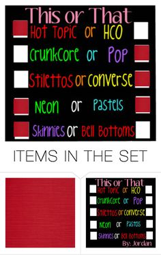 """this or that"" by bamalife on Polyvore featuring art"