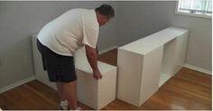 Cómo activar Siete estándar armarios de cocina de Ikea en una cama de plataforma y colocar debajo - http://diseno-de-muebles.com/como-activar-siete-estandar-armarios-de-cocina-de-ikea-en-una-cama-de-plataforma-y-colocar-debajo/