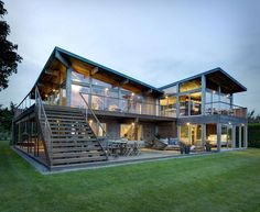 1970 kit house modified as sustainable Far Pond residence with modern appeal