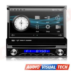 In Car Dash DVD Player Bluetooth GPS Single 1DIN USB CD Touch Screen Stereo UK