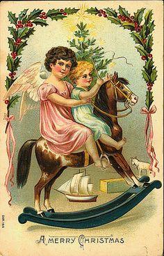 クリスマスと子供を描いたポストカード < オールドペーパー < カテゴリ別一覧 - Retrofan