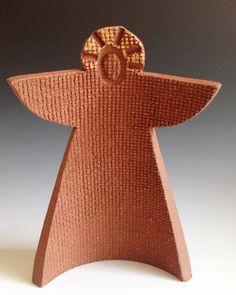 Modern Handcrafted Stoneware Angel