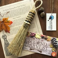 This stunningly hand crafted Witches' Besom by Blue Moon Broom, Brush and Besom comes with a bronze pentacle on the handle and is perfect for any altar or space. Altar, Witches Alphabet, Witch Broom, Broom Corn, Witch Bottles, Blue Words, Wiccan Crafts, Candle Spells, Sabbats