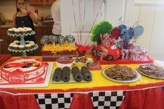 Alexander's 2cd  Disney Cars party - LOVE the chocolate donut tires!!!