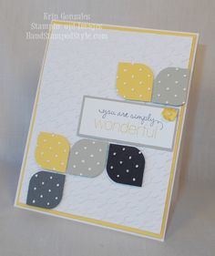 Friendly Phrases Card - corner punch, embossing folder, punch pack - Hand Stamped Style