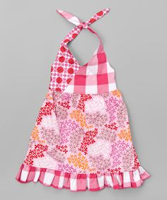 Another great find on #zulily! Beary Basics Pink Daisies Halter Dress - Toddler & Girls by Beary Basics #zulilyfinds