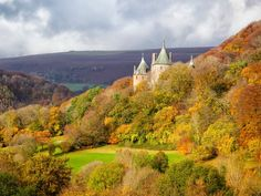 Castell Coch in Autumn, Tongwynlais, Cardiff, Wales Robert Harding Picture Library / SuperStock Cardiff Wales, Paris Ville, South Wales, Wales Uk, A0 Poster, The Great Outdoors, Monument Valley, United Kingdom, Scenery