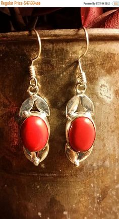 Check out this item in my Etsy shop https://www.etsy.com/listing/486040361/70-off-flash-sale-red-coral-earrings