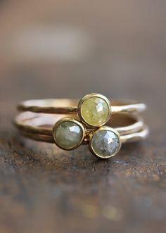 Rose+cut+diamond+and+14k+gold+ring+thin+gold+by+BelindaSaville,+$195.00