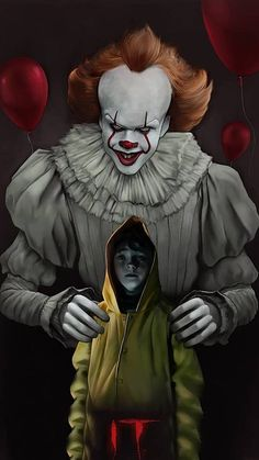 Some more Pennywise art for your day. Who doesn't love this hilarious psychotic clown ay Gruseliger Clown, Es Der Clown, Creepy Clown, Penny Wise Clown, Scary Movies, Horror Movies, Scary Wallpaper, Wallpaper Wallpapers, Scary Photos