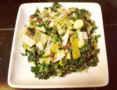 Winter Kale and Pear Salad