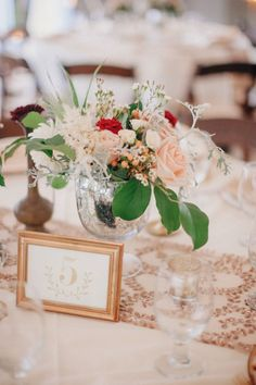 Mercury glass containers and pretty pretty blooms! #cedarwoodweddings Casually Classic Eclectic :: Libby+Tim   Cedarwood Weddings