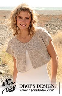 Jacket pattern by DROPS design - Knitting ❤ - Knitting Designs, Knitting Patterns Free, Knit Patterns, Free Knitting, Free Pattern, Knit Shrug, Crochet Jacket, Cardigan Pattern, Jacket Pattern