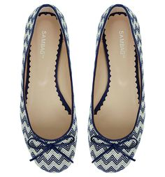 Tina Zig Zag Woven - Ballet Flats - Shoes