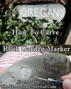 The Homestead Survival | How To Carve A Rock Garden Marker | http://thehomesteadsurvival.com