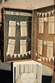 DIY Tischplan für die Hochzeit - Vintage Tischplan #Mr & Mrs Die Hochzeitsplaner #Hochzeitsplaner Hannover