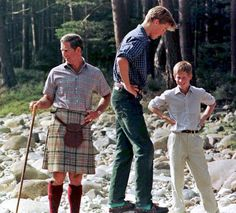 Pin for Later: Prince William and Prince Harry's Cutest Moments Together Through the Years  Prince William and Prince Harry took a walk with their dad on the Balmoral Estate in Scotland in August 1997.
