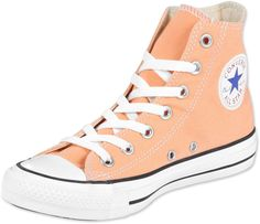 Peach Converse High Tops OBSESSED Not anywhere in the Uk yet :(
