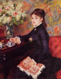 Pierre-Auguste Renoir (French Impressionist Painter, 1841-1919) The Cup of Chocolate 1878