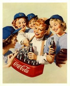 coca cola girls baseball ad Two of my favorite things.baseball and Coca-Cola Propaganda Coca Cola, Coca Cola Poster, Coca Cola Ad, Always Coca Cola, Pepsi, Coca Cola Vintage, Pub Vintage, Coke Ad, Sodas