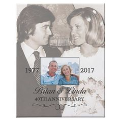 Need a unique gift? Send Then & Now Photo Anniversary Canvas and other personalized gifts at Personal Creations. Anniversary Gifts For Parents, Marriage Anniversary, Anniversary Gifts For Husband, 50th Wedding Anniversary, Anniversary Photos, Anniversary Parties, 20 Year Anniversary, Golden Anniversary, Anniversary Invitations