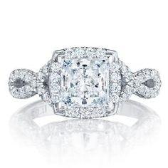 Shop online TACORI HT2549PR65 Vintage 18K - White Gold Diamond Engagement Ring at Arthur's Jewelers. Free Shipping
