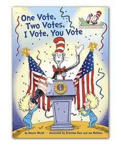 This One Vote, Two Votes, I Vote, You Vote Hardcover is perfect! #zulilyfinds