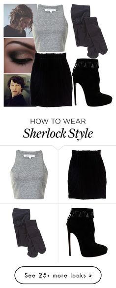 """Untitled #1428"" by heartkingdomknight on Polyvore featuring Falke and Alaïa"