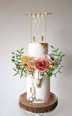 Boho Chic Wedding Cake by Sophia Fox by Sophia Fox