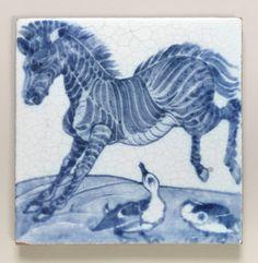 William de Morgan Zebra(?) tile Cooper Hewitt
