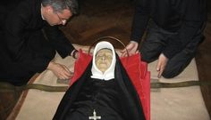 The incorrupt body of Saint Madeleine Sophie Barat, foundress of the Society of the Sacred Heart.