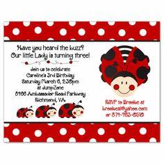 Ladybug Invitation Template lady bug mae Pinterest Ladybug