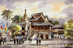 Spectacular Watercolor Paintings by Thanakorn Chaijinda ~ Cool Stuff Directory